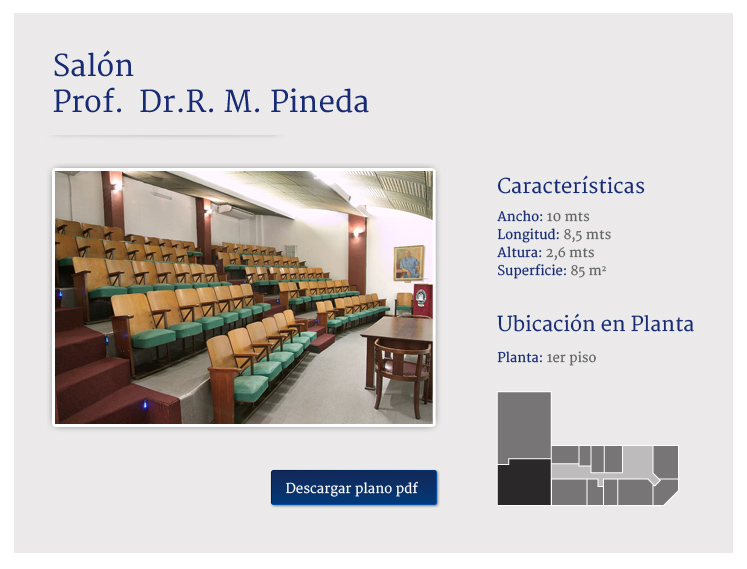 Auditorio Dr. R. Pineda